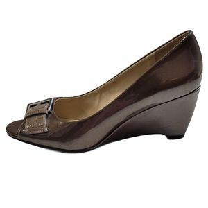 Naturalizer N5 Comfort Peep toe Wedge shoe Sz 8